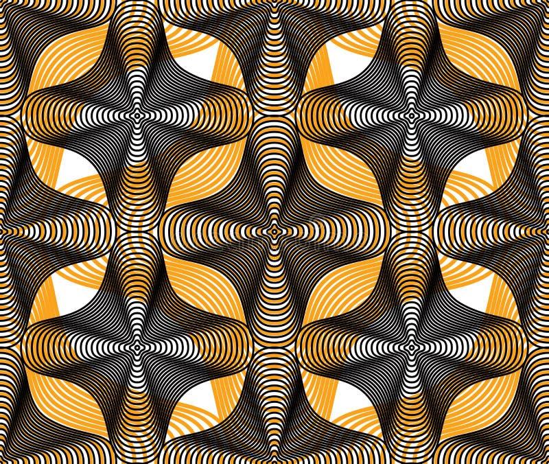 Dekorativ modell för färgrik vektor, sömlös konstbakgrundsdeco vektor illustrationer