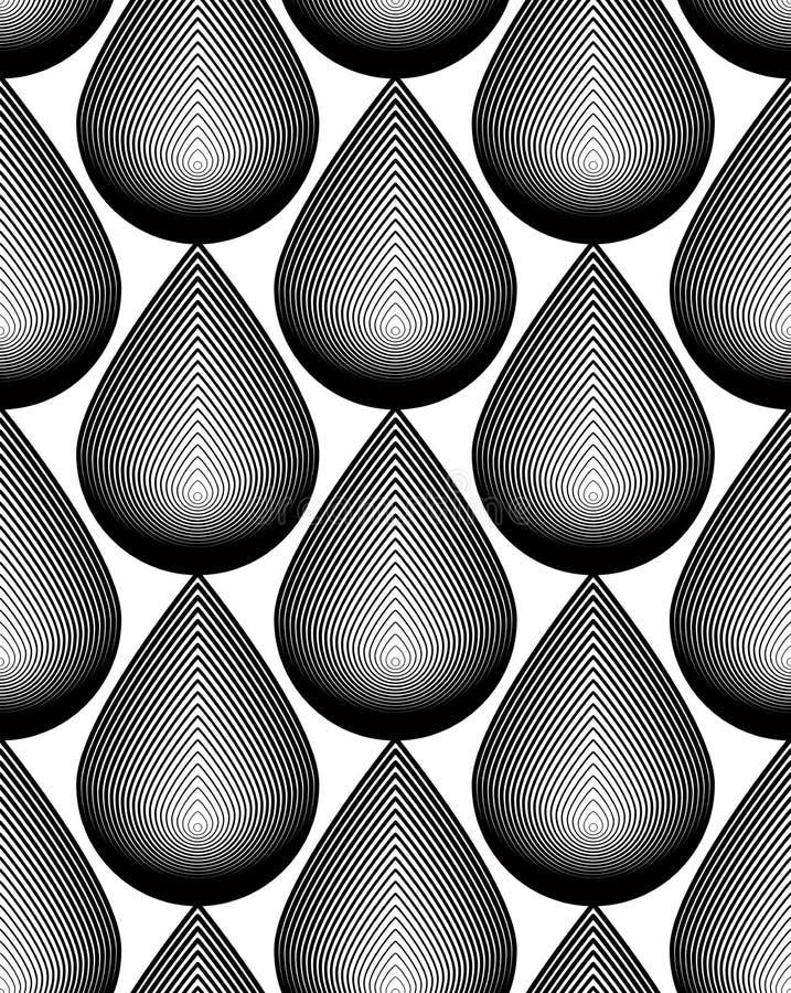 Dekorativ modell för svartvit vektor, sömlös konstbackgrou vektor illustrationer
