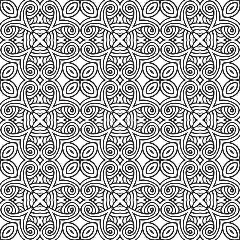 Dekorativ modern geometrisk sömlös modell vektor illustrationer