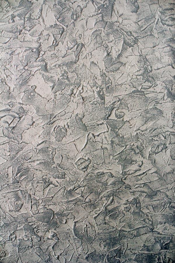Dekorativ murbruk applicerade till väggen och målat royaltyfria bilder