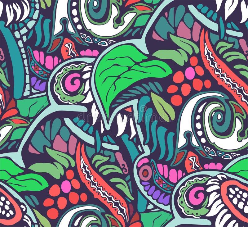Dekorativ naturlig sömlös bakgrund av röd och blå färg arkivfoton