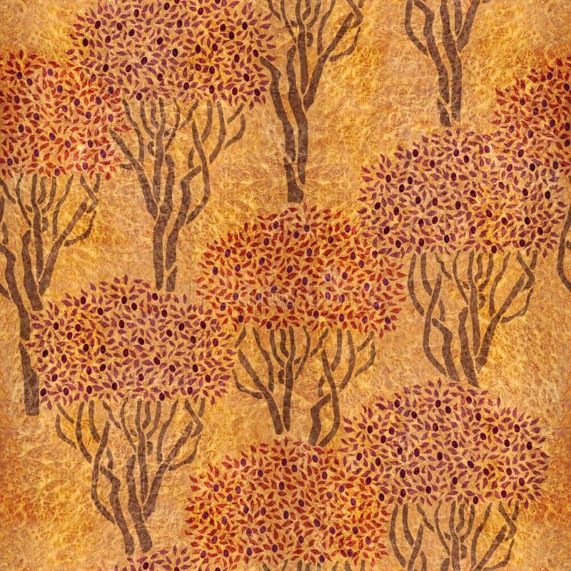 Dekorativ olivgrön dunge - sömlös bakgrund royaltyfri illustrationer