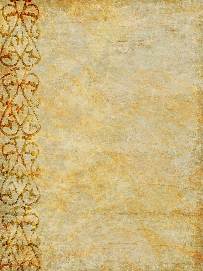 dekorativ paper tappning royaltyfri illustrationer