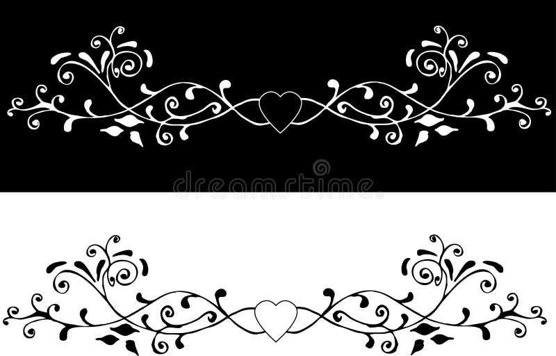 dekorativ prydnad 2 vektor illustrationer
