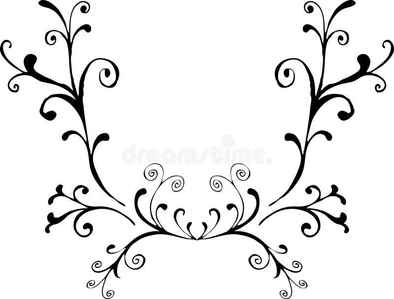 dekorativ prydnad 4 royaltyfri illustrationer