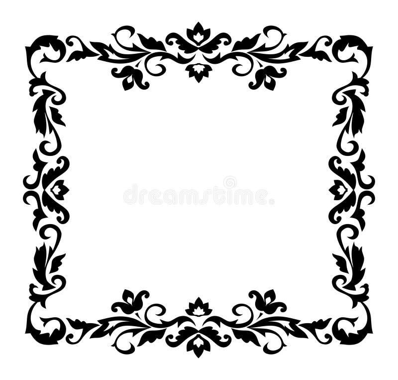 dekorativ prydnad för kant vektor illustrationer