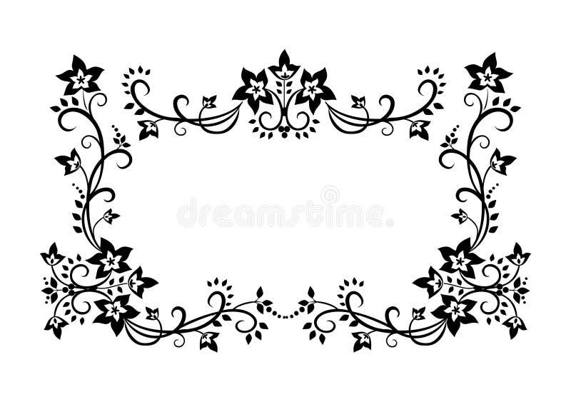 dekorativ prydnad för kant royaltyfri illustrationer