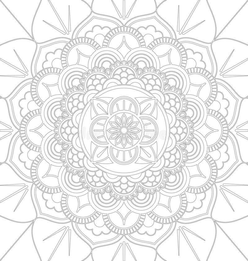 Dekorativ prydnaddesign för Mandala stock illustrationer