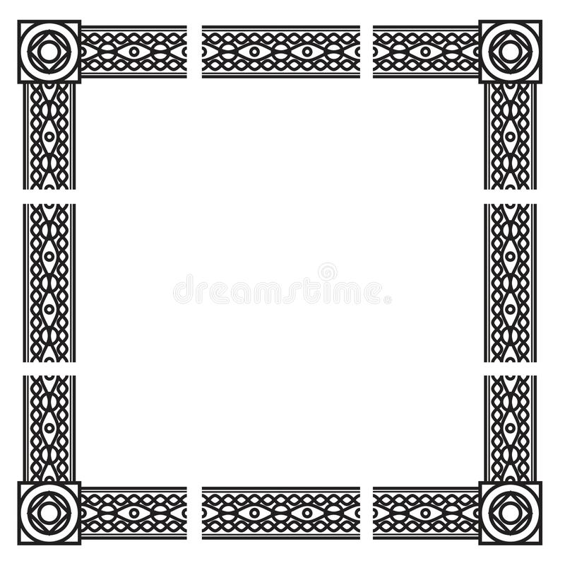 dekorativ ram arkivbilder