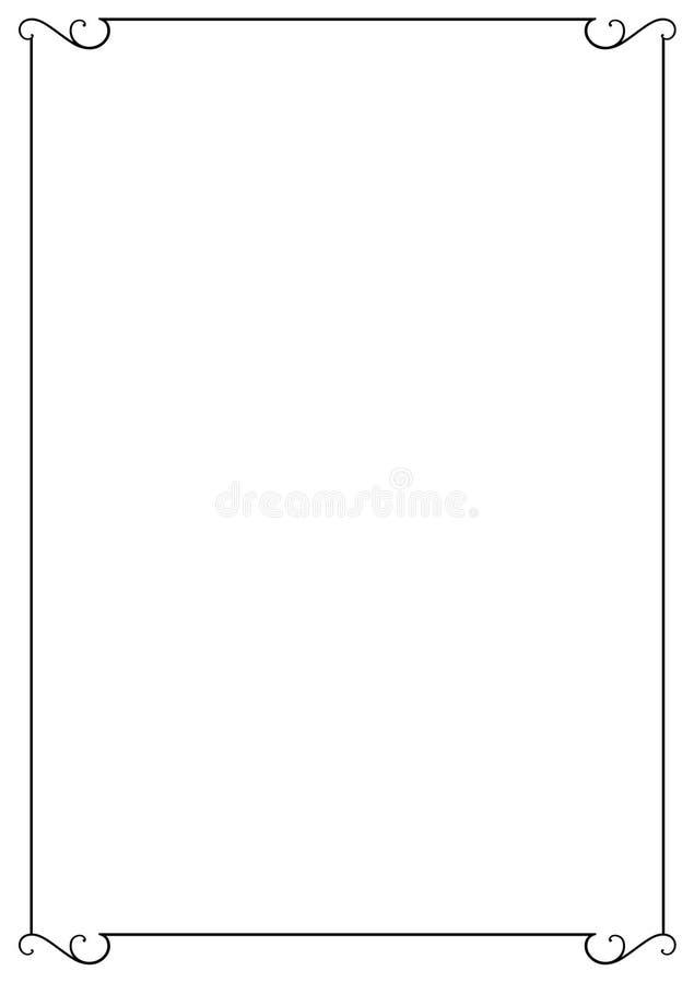 dekorativ ram vektor illustrationer