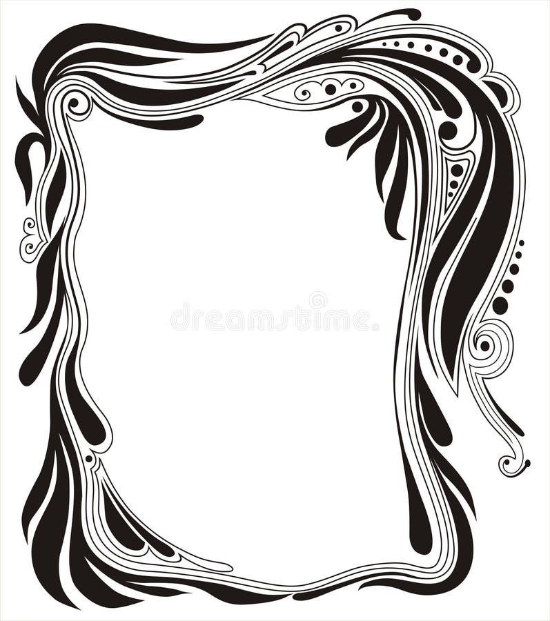 dekorativ ram royaltyfri illustrationer