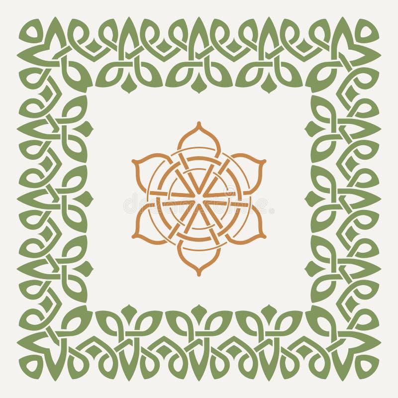 Dekorativ ram för vektor i den keltiska stilen royaltyfri illustrationer