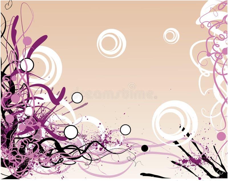 dekorativ ramgrungevektor vektor illustrationer