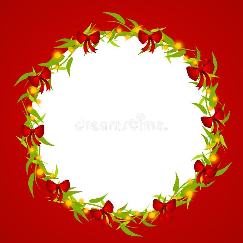 dekorativ ramkran för jul stock illustrationer