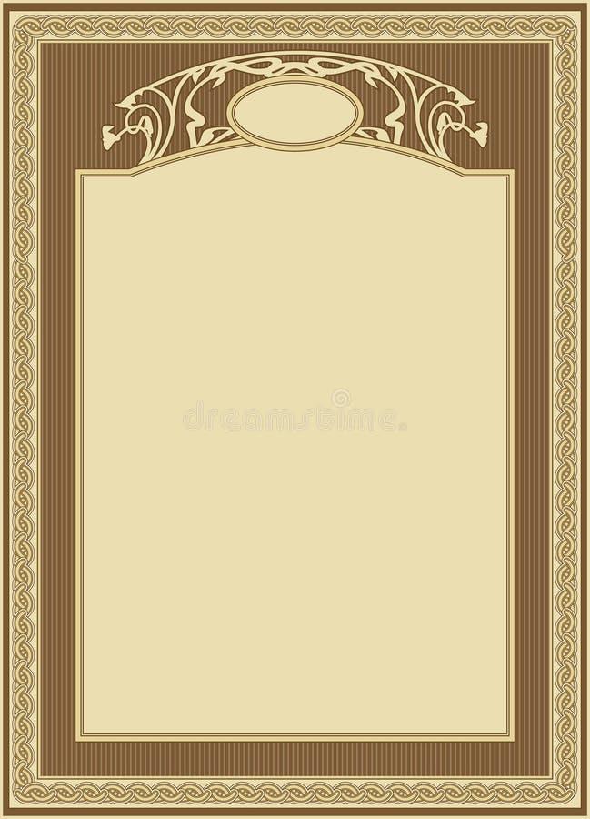 dekorativ ramvektor stock illustrationer