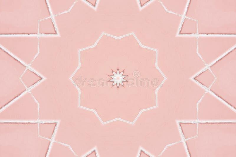 Dekorativ rosa bakgrund Dekorativa rosa beståndsdelar för tappning arkivbild