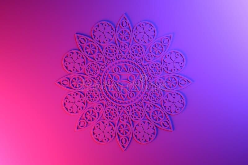Dekorativ rosa mandala royaltyfri illustrationer