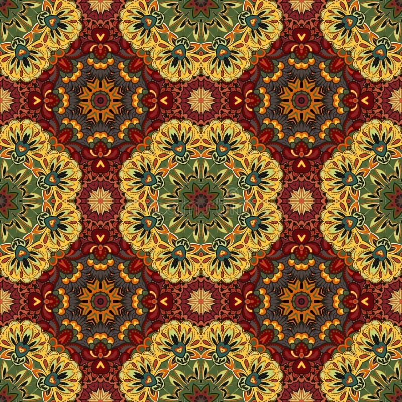 Dekorativ rund Marocko sömlös modell Orient traditionell prydnad orientaliskt motiv plant moroccan tegelplatta royaltyfri illustrationer