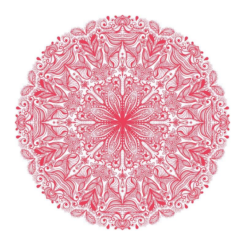 Dekorativ rund modell royaltyfri illustrationer