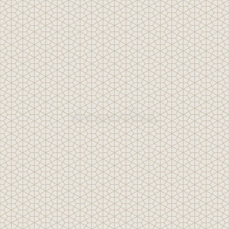 Dekorativ sömlös geometrisk modellbakgrund stock illustrationer