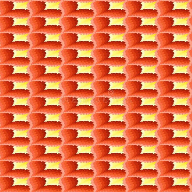 Dekorativ sömlös modell för terrakotta och för guling vektor illustrationer