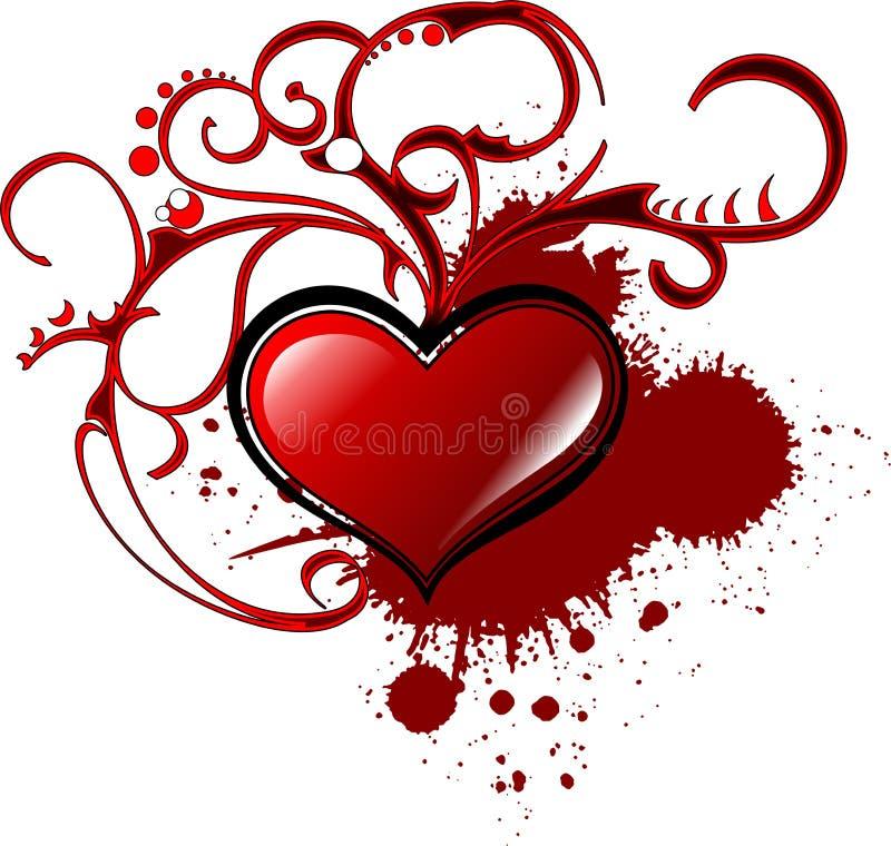 dekorativ s valentin för bakgrundshjärta royaltyfri bild