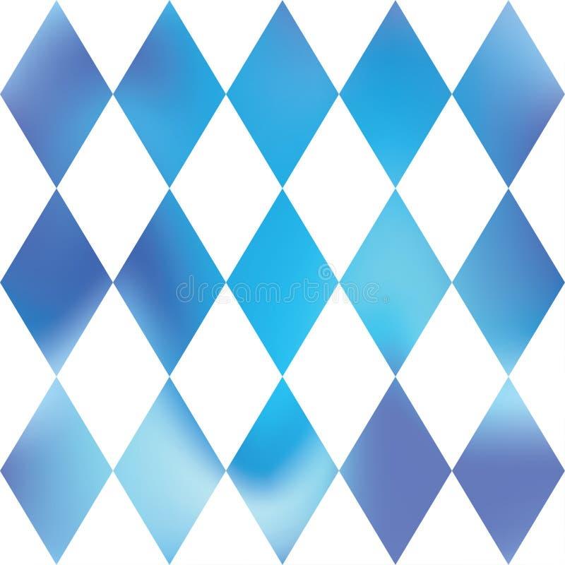Dekorativ schackromb Blå & vit rastermodell Abstrakt panelmodell royaltyfri illustrationer
