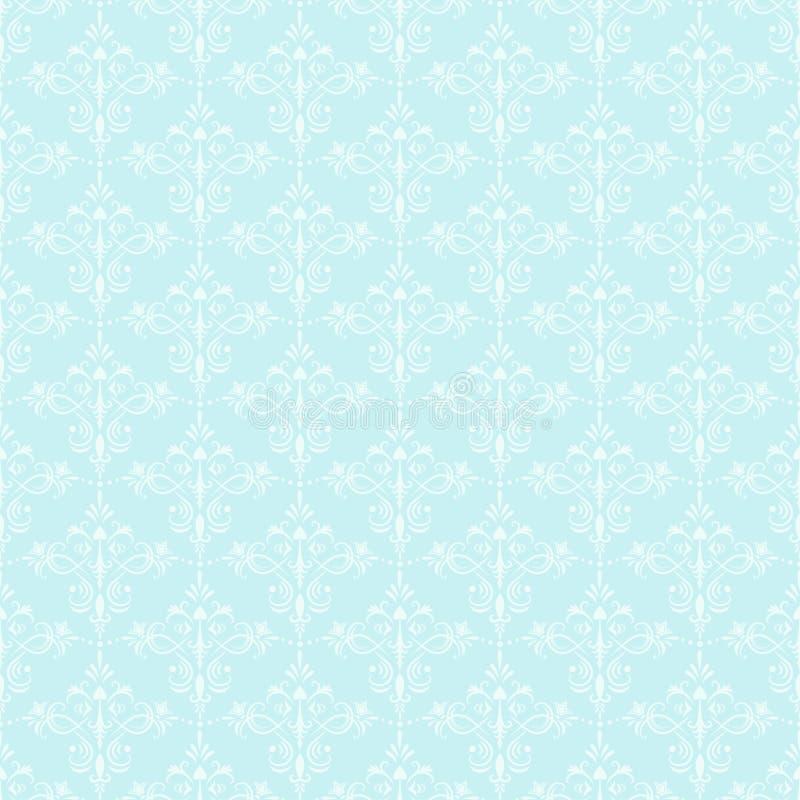 dekorativ seamless wallpaper vektor illustrationer