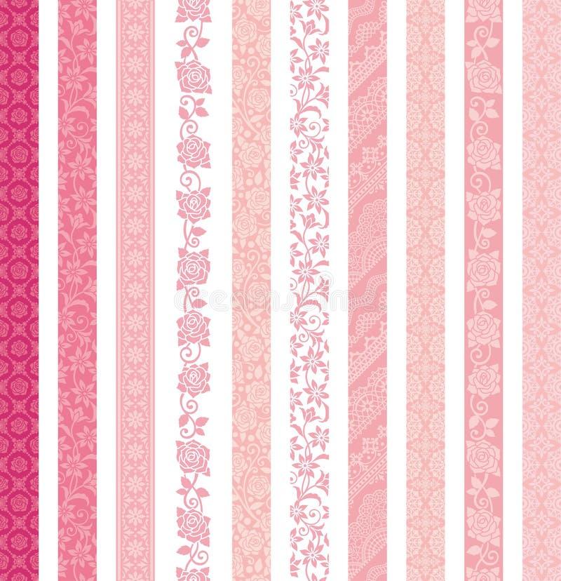 dekorativ set för baner Snöra åt klippningar royaltyfri illustrationer