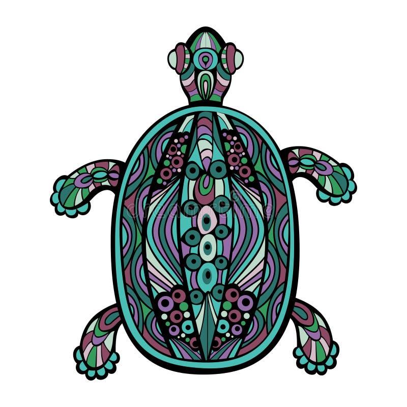 Dekorativ sköldpadda stock illustrationer