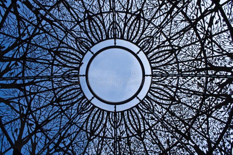 dekorativ skysikt för kupol royaltyfri foto