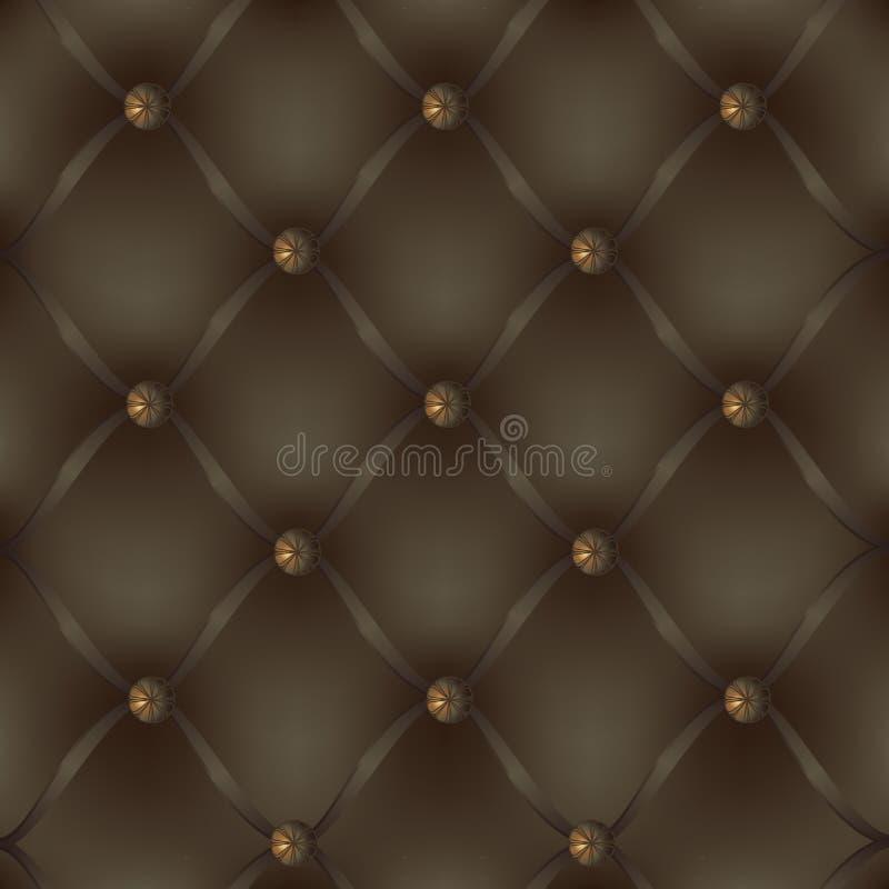 Dekorativ stoppning för läder royaltyfri bild