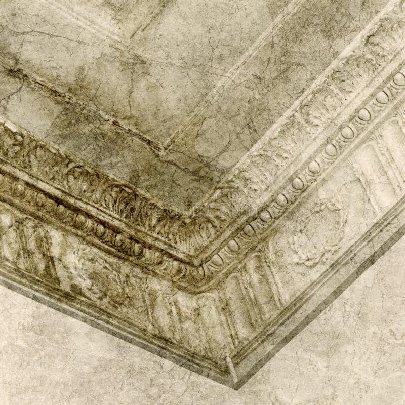Dekorativ stuckaturstöpning royaltyfri fotografi