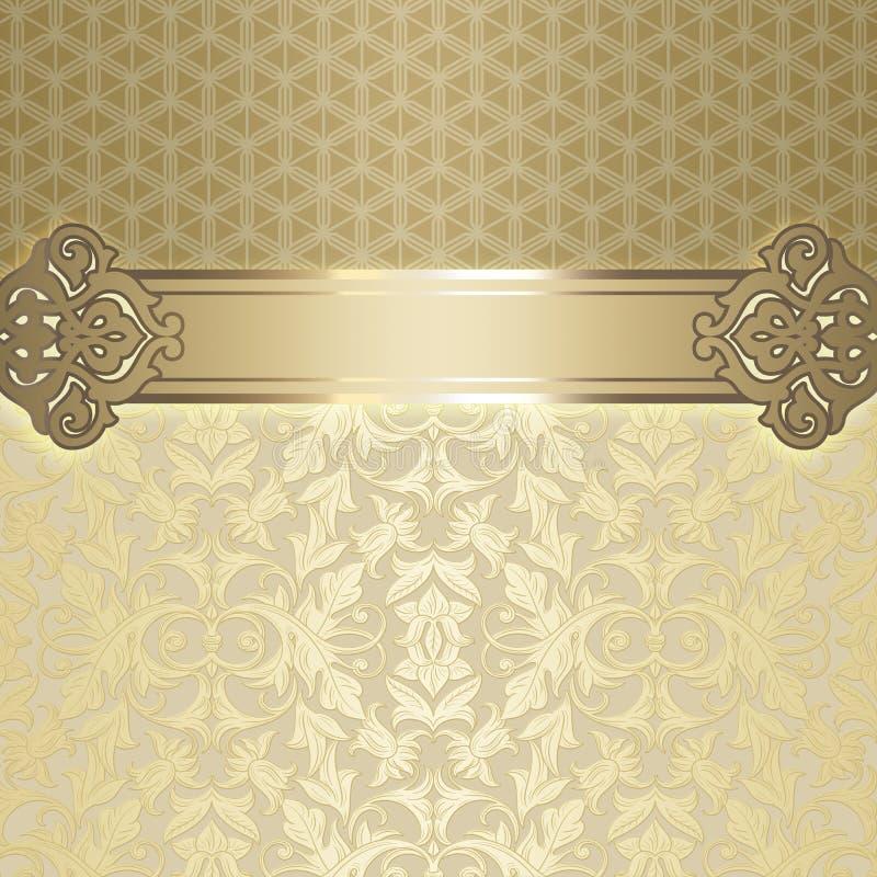 Dekorativ tappningbakgrund royaltyfri illustrationer