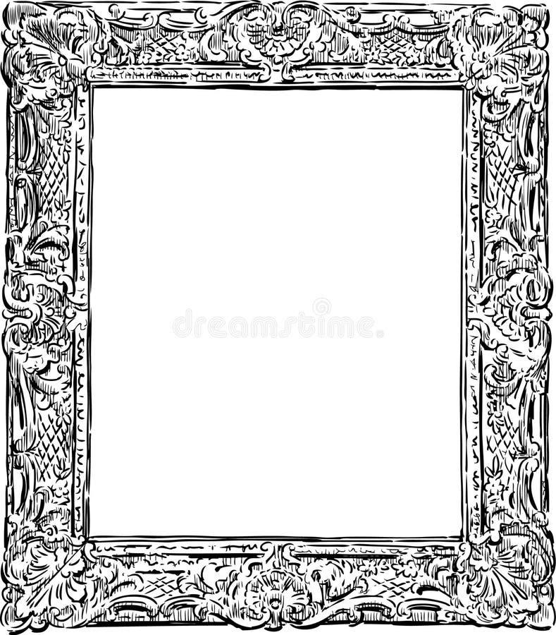 Dekorativ tappningram royaltyfri illustrationer