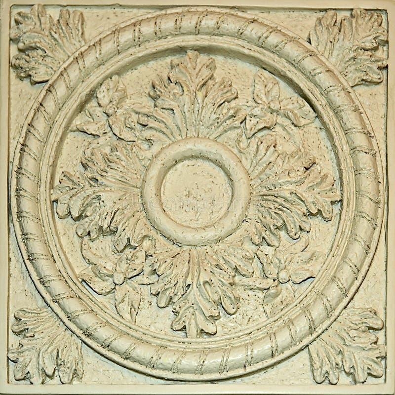 Dekorativ Tegelplatta Arkivbild