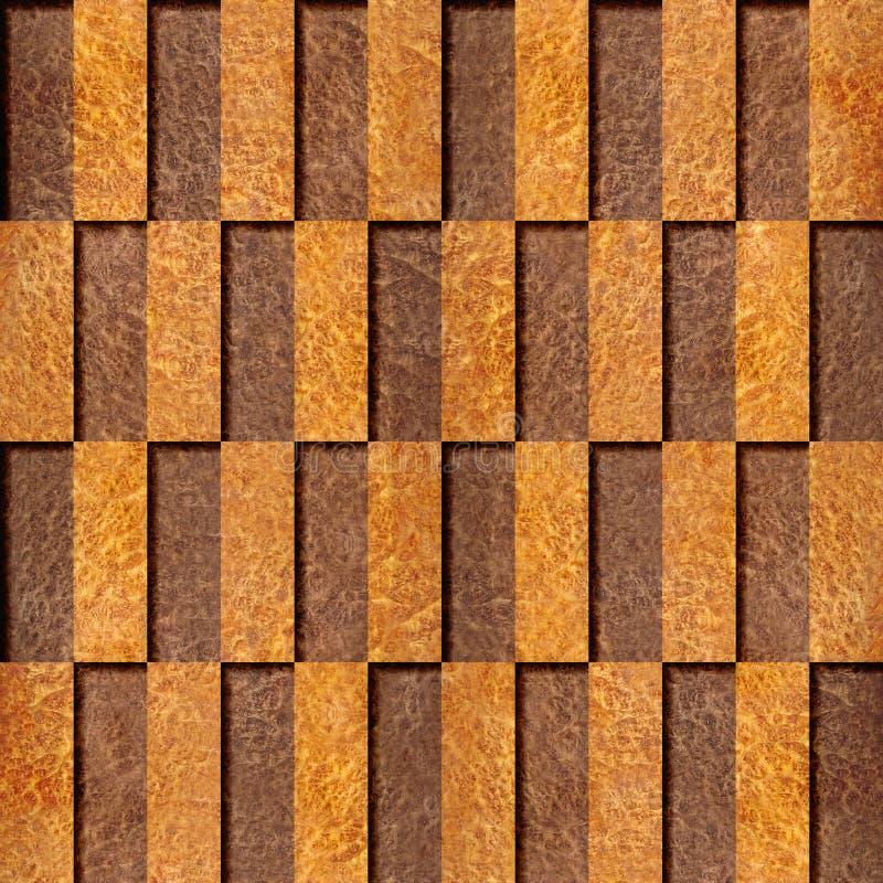 Dekorativ tegelplattamodell - sömlös bakgrund - wood textur för Carpathian alm royaltyfri illustrationer