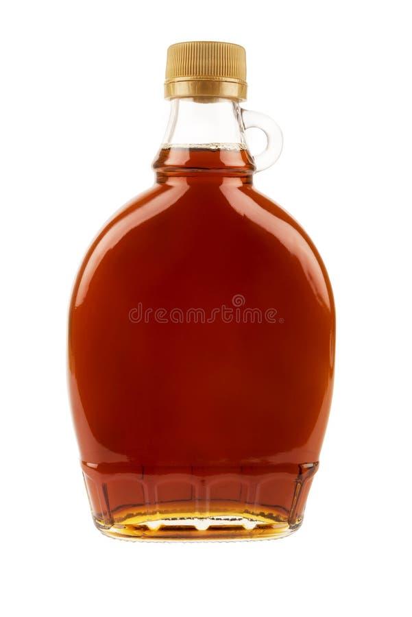 Dekorativ traditionell flaska för lönnsirap från Kanada royaltyfri fotografi