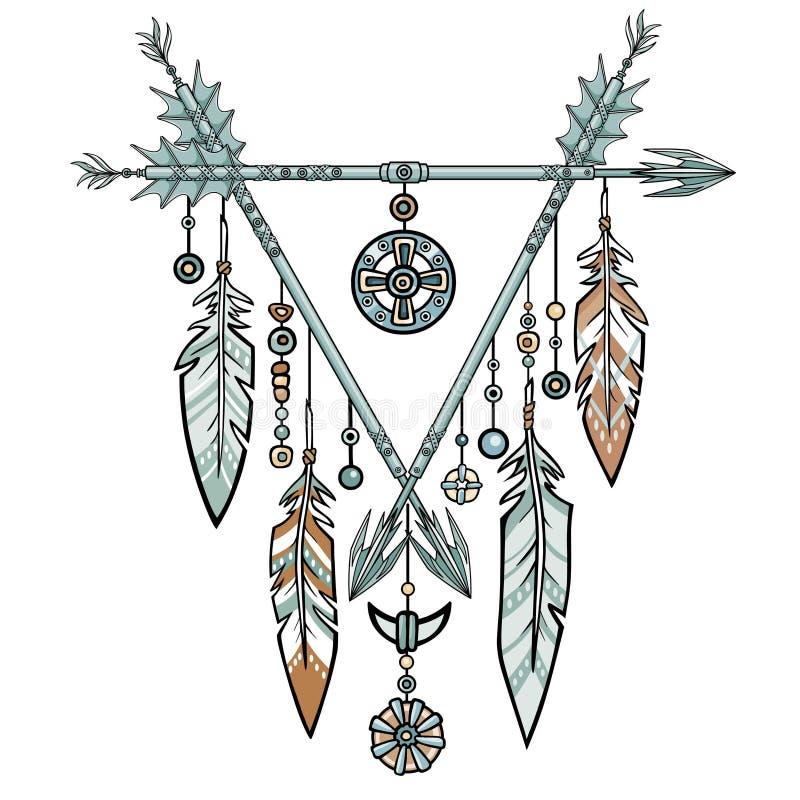 Dekorativ triangel från pilar vektor illustrationer