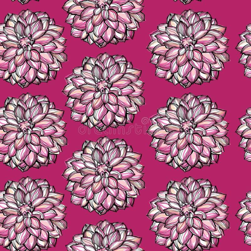 Dekorativ vattenfärgbakgrund för blomma royaltyfri illustrationer