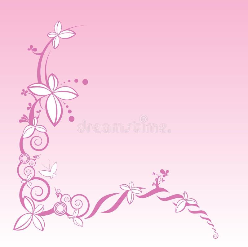 dekorativ vektor för blommarampink vektor illustrationer