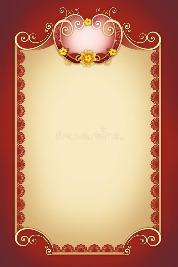 Dekorativ virvel för hälsningkort royaltyfri illustrationer