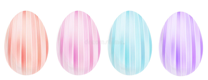 Dekorativa ägg för påsk arkivfoton