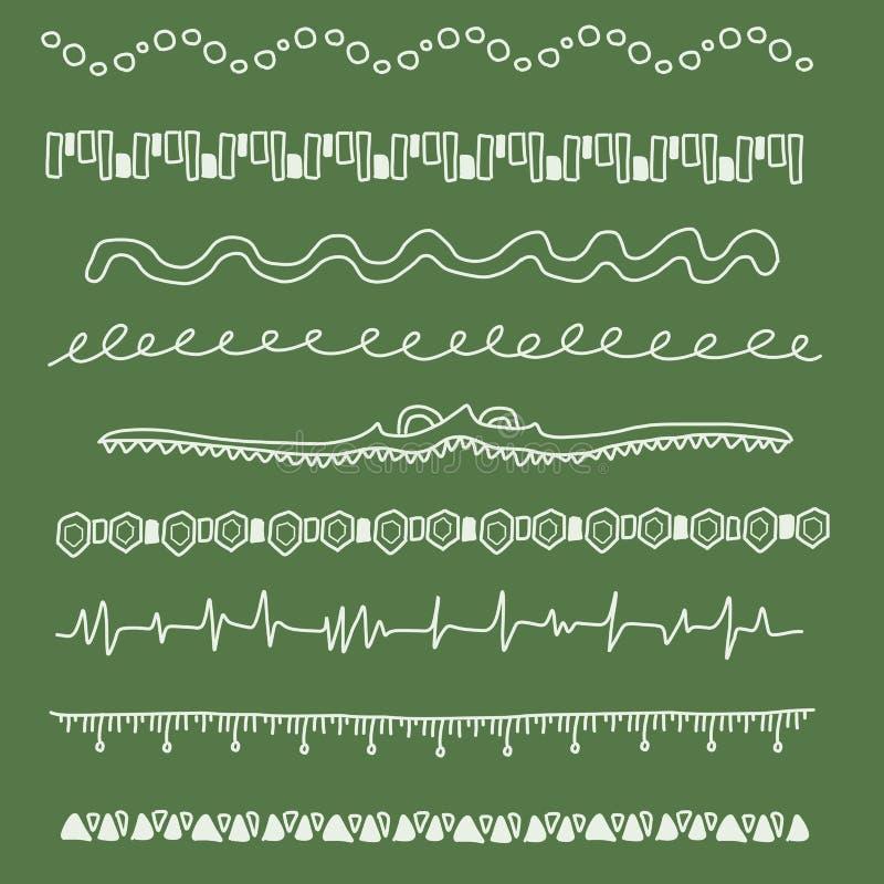 dekorativa avdelare stock illustrationer