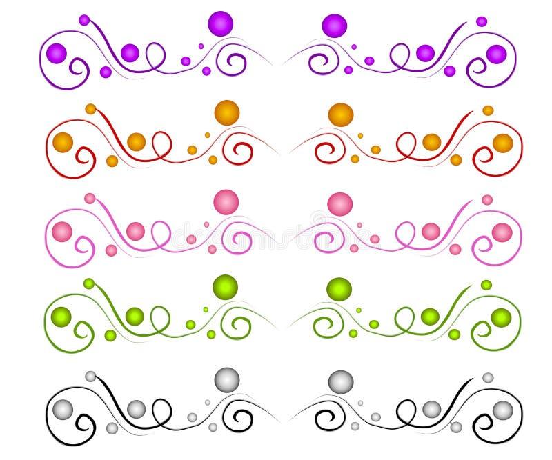 dekorativa avdelare page rengöringsduk vektor illustrationer