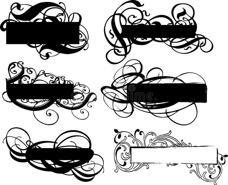 dekorativa baner stock illustrationer