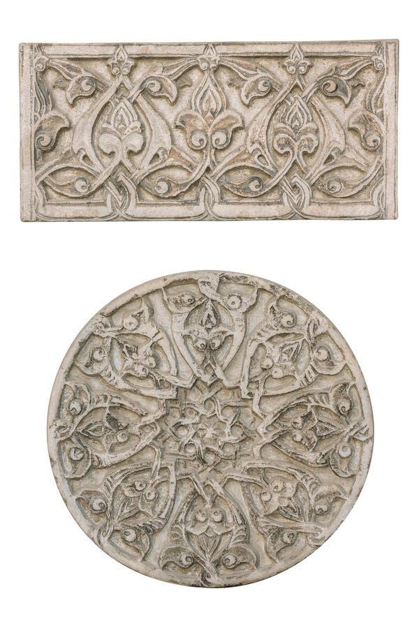 Dekorativa beståndsdelar för medeltida arkitektur royaltyfri fotografi