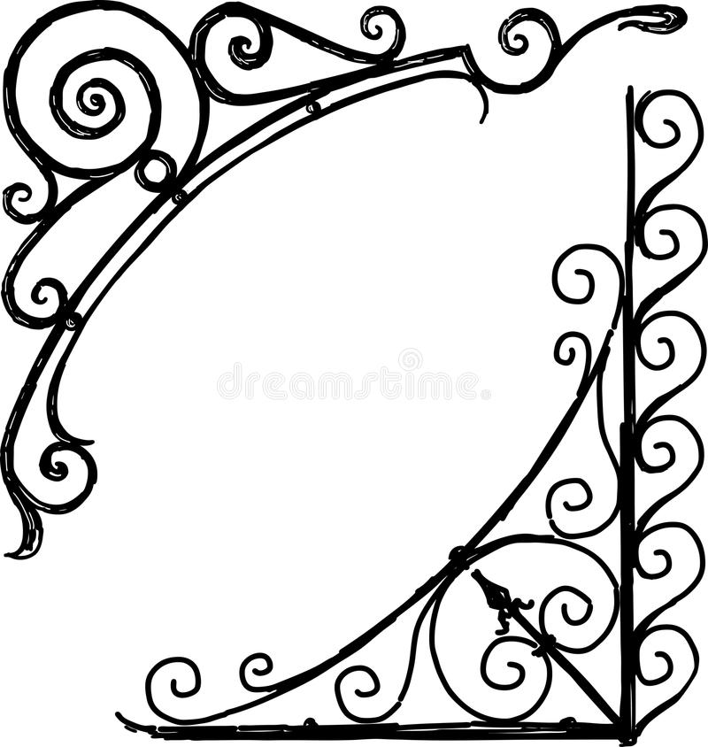 Dekorativa beståndsdelar för tappning royaltyfri illustrationer