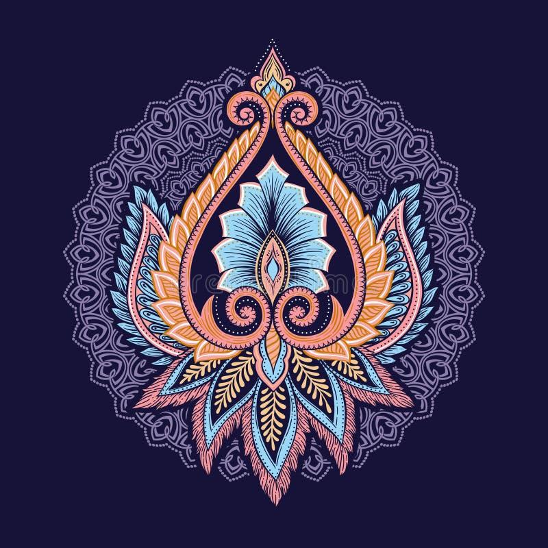 Dekorativa blom- beståndsdelar royaltyfri illustrationer