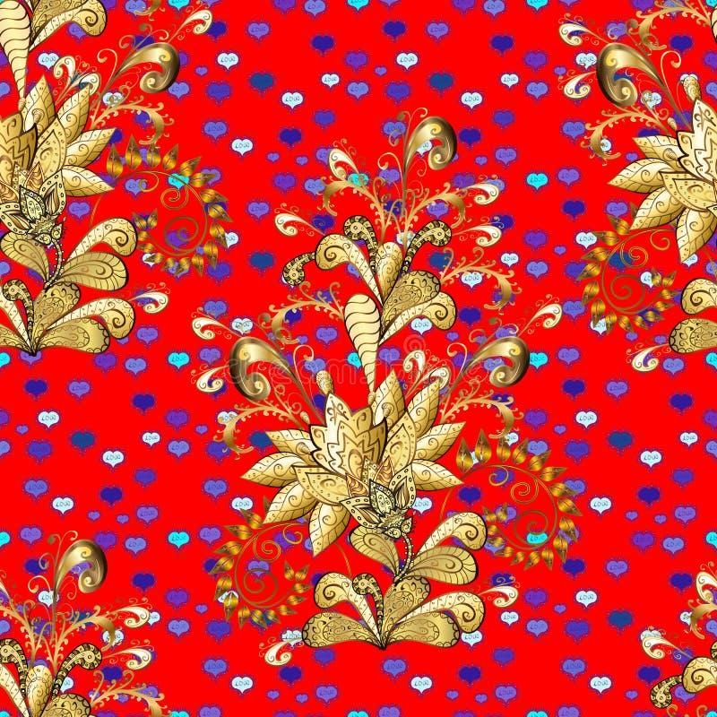 Dekorativa blom- beståndsdelar med hennatatueringen vektor illustrationer